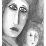 [Untitled] (Woman and Child)(recto) and [Untitled] (Woman) (verso)