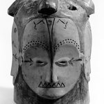 Helmet Mask (Ñgontang) with Four Faces