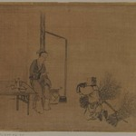 Album Leaf Painting: Lady and Woodcutter
