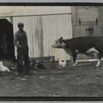 [Untitled] (Man and Animals in Barnyard)