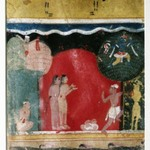 Krishna Steals the Gopis Clothes, Page from a Dated Rasikapriya Series