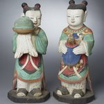 Boy Attendants (Dong-ja), Pair of Figures