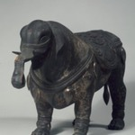 Buddhist Elephant Sculpture
