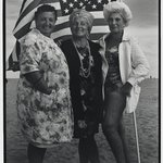 Three Women and Flag, Coney Island