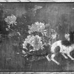 Cats and Peonies (Pair of small Itado Woodsliding Doors)