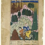Hum captures Afrasiyab, Leaf from a Dispersed Shah-nama Series
