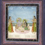 Krishna and Radha Seated on a Terrace