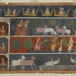 Page from a Dispersed Bhagavata Purana Series