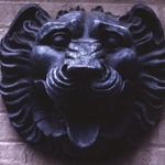 Lions Head Ornament, from A.T. & T. Building, 195 Broadway, NYC