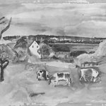 Landscape with House and Cows