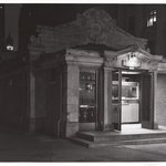 Subway Kiosk, Bowling Green, NYC, Spring, 1980, 7:30 A.M.