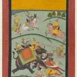 Nata Ragini, page from a dispersed Ragamala series
