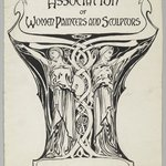 "Design for Poster, ""Association of Women Painters and Sculptors"""