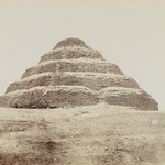 Pyramid at Saqqara (View from southeast of the Step Pyramid)