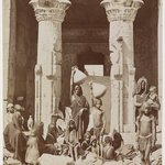 A Group of Egyptians in Front of the Temple of Dendera (Dendur)