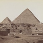 Pyramids at Giza (View from northeast of the pyramids of Chephren and Cheops)
