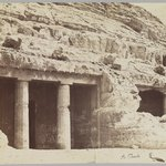 Tombs at Beni Hasan (View of the façade of the tombs of Khnum-hotep [no. 3] and Beni Hasan [no. 4])