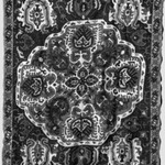 Textile with Stylized Embroidered Pattern