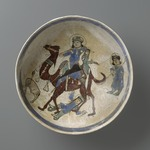Bowl Depicting Bahram Gur and Azada