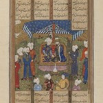 "Folio from a ""Shahnameh"": A King and a Visitor with Attendants"