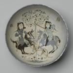 Bowl with Confronted Mounted Horsemen