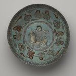 Bowl Depicting a Falconer and Four Pairs of Seated Figures