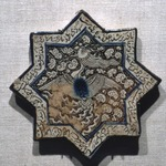 Eight-Pointed Star Tile with Simurgh (Phoenix)