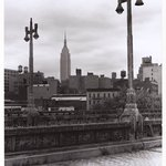 Lampposts, Empire State Building, Westside Highway, New York