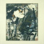 Hanging Scroll (Framed) - Lotus with Dragonfly