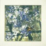 Hanging Scroll (Framed) - Purple Rhythm with Lilacs