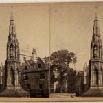 Stereograph: Martyrs Memorial, Oxford, England