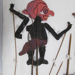 Shadow Play Figure Representing Lenong