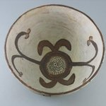 Orangeware Bowl (Tetsa) with Brown and Red Designs