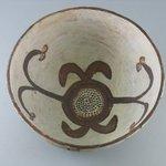 Orangeware Bowl (Tetsa) with Brown and Red Designs