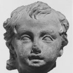 Childs Head from a Statuette