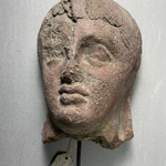 Votive Mask of Coarse Red Clay