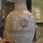 Wine Jar Showing Grapevine