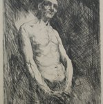 Half Length Nude Figure of a Man