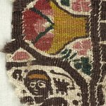 Fragment with Figural and Potted Botanical Decoration