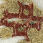 Fragment with Cross Decoration
