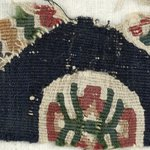 Band Fragment with Geometric and Botanical Decorations