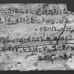 Scribes Exercise Board with Hieratic Text