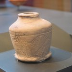 Kohl Jar with Incised Figures