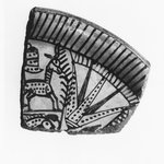 Fragment of Bowl with Lotus, Antelope, and Fish