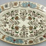 Large Oval Platter; Lahore Pattern