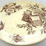 Oval Platter; Pomegranite Pattern