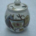 Sugar Bowl with Lid; Pomegranate Pattern (from Complete Tea Service)