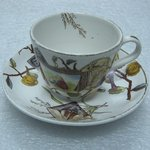 Teacup and Saucer; Pomegranate Pattern (from Complete Tea Service)