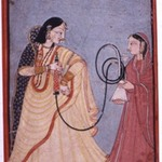 Queen Vantu with a Hookah Attended by a Maid