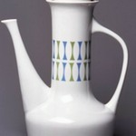 Coffeepot and Lid, Contempri Design, Eclipse Pattern